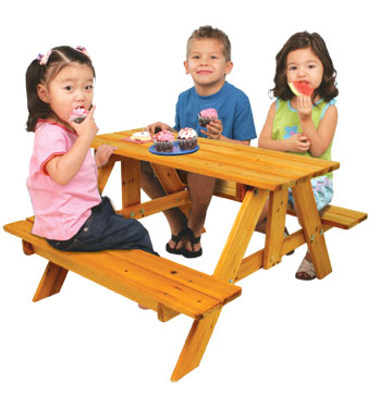 KidKraft Adirondack Picnic Table - Honey