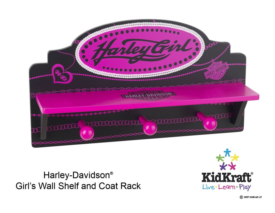 KidKraft Harley Davidson Girls Wall Shelf