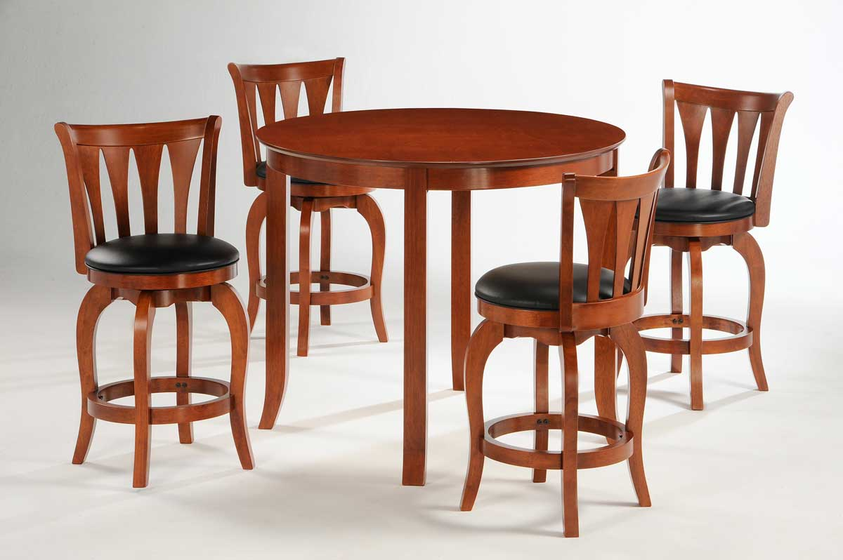 100 cherry dining room set homelegance ohana 4 piece round for 4 piece dining room set