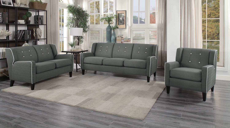 Homelegance Roweena Sofa Set - Dark Gray