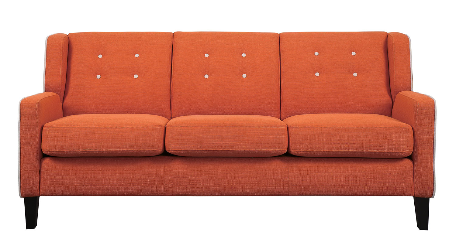 Homelegance Roweena Sofa - Orange