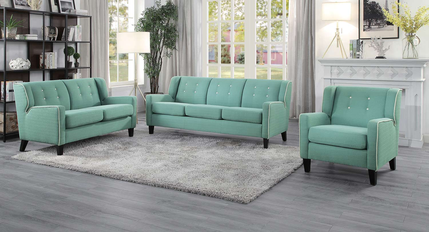 Homelegance Roweena Sofa Set - Teal
