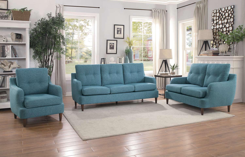 Homelegance Cagle Sofa Set - Blue