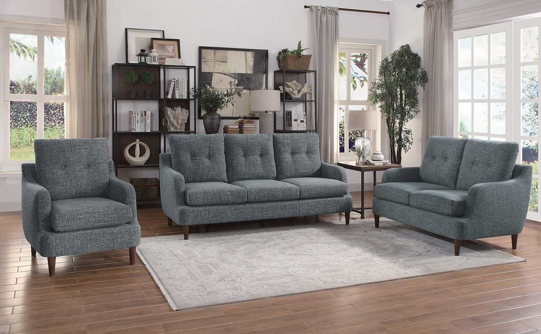 Homelegance Cagle Sofa Set - Gray