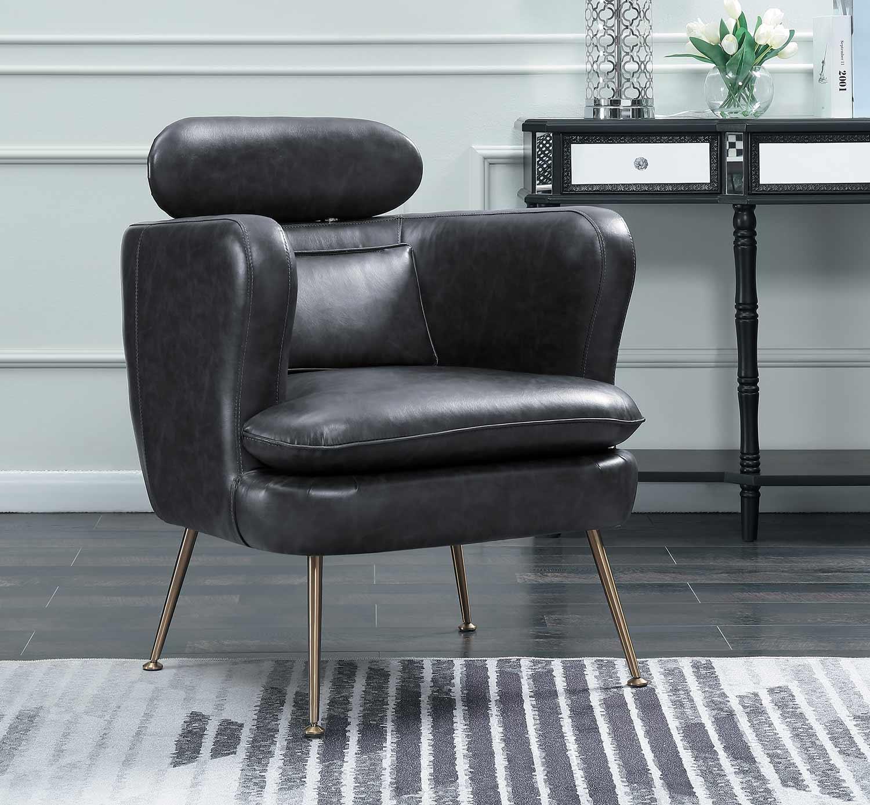 Homelegance Orbit Accent Chair - Dark Gray