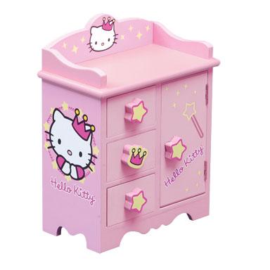 KidKraft Hello Kitty Princess Accessory Cabinet