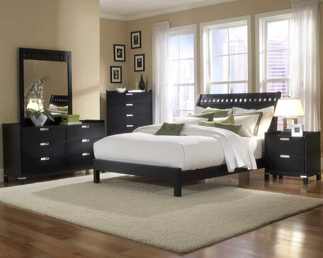 Homelegance bella bedroom collection in black b1347 for Mens black bedroom furniture