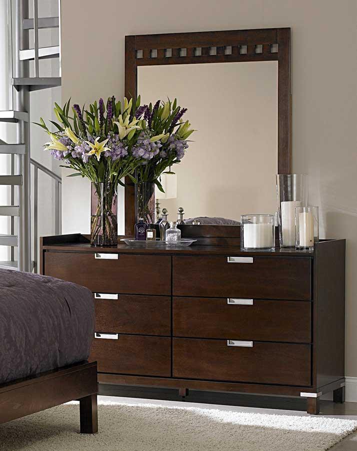 Homelegance Bella Platform Bedroom Collection in Warm Brown Cherry