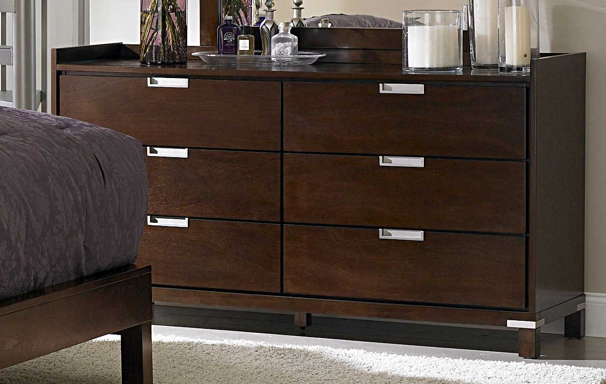 Homelegance Bella Dresser in Warm Brown Cherry