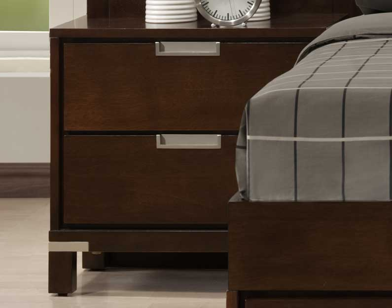 Homelegance Bella Wall Bed Night Stand in Warm Brown Cherry