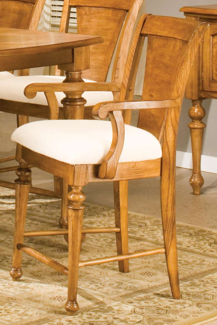 Counter Height Arm Chairs : Homelegance Ashborough Counter Height Arm Chair 1371-24A Homelement ...