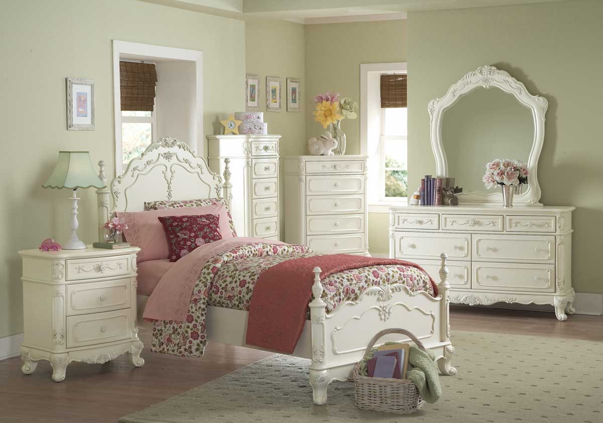 Homelegance Cinderella Bedroom Collection Ecru B1386 at
