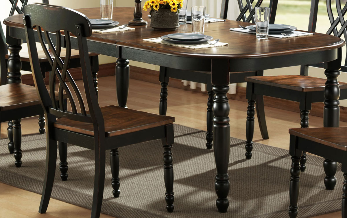 Black Dining Table On Dining Room Furnituredining Room Setdining Room