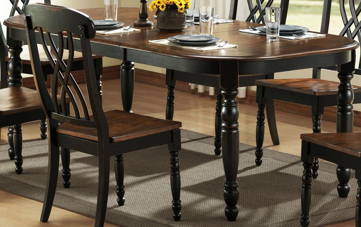Homelegance Ohana Black Dining Table