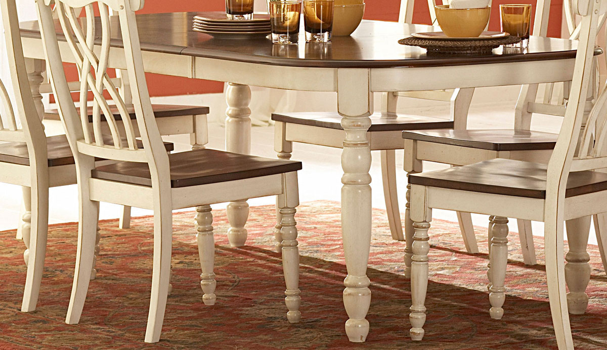 Homelegance ohana white dining table 1393w 78 at - Artistic wood clad design for warm essence in your house ...