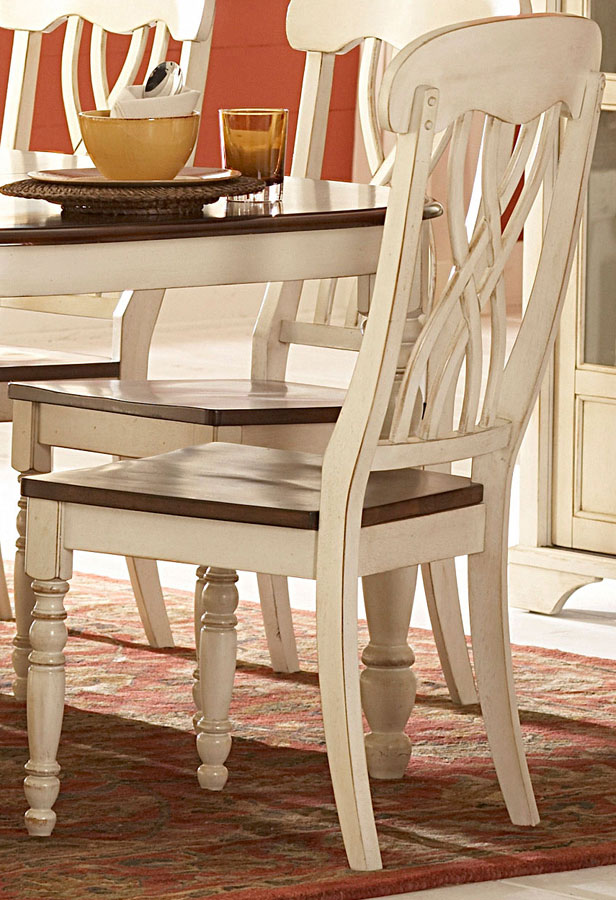 Cheap Homelegance Ohana White Side Chair
