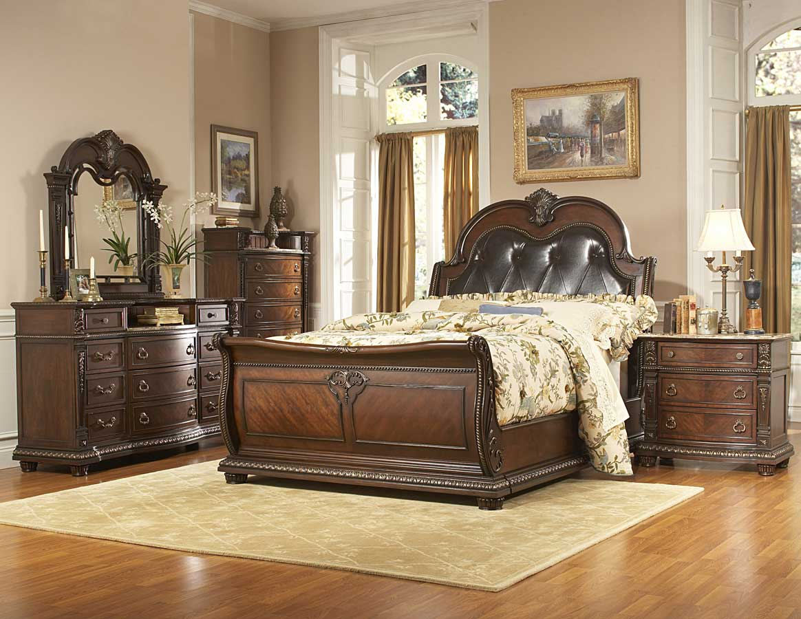 Homelegance palace bedroom collection special 1394 bed set for Bedroom set with mattress sale