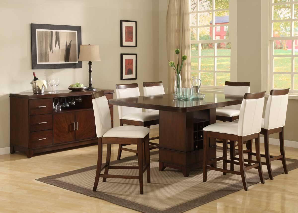 best height dining room sets with counter height wooden dining table bar height kitchen table Tully Counter Height Dining Room Table