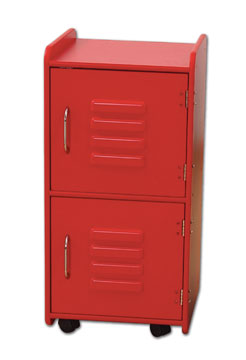 Locker - Medium - Red-KidKraft