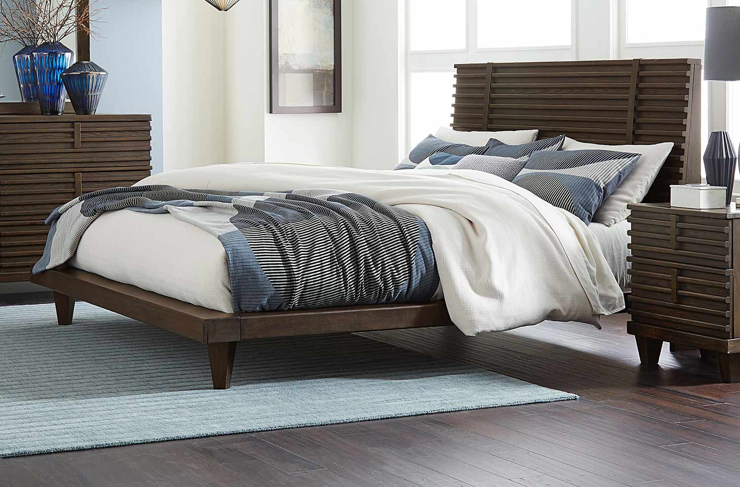Homelegance Ridgewood Platform Bed - Rustic Burnished Oak