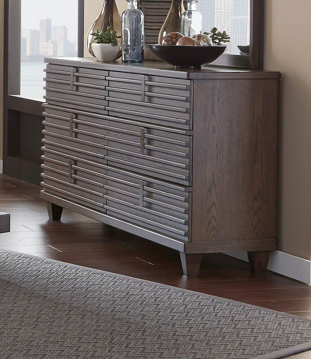 Homelegance Ridgewood Dresser - Rustic Burnished Oak