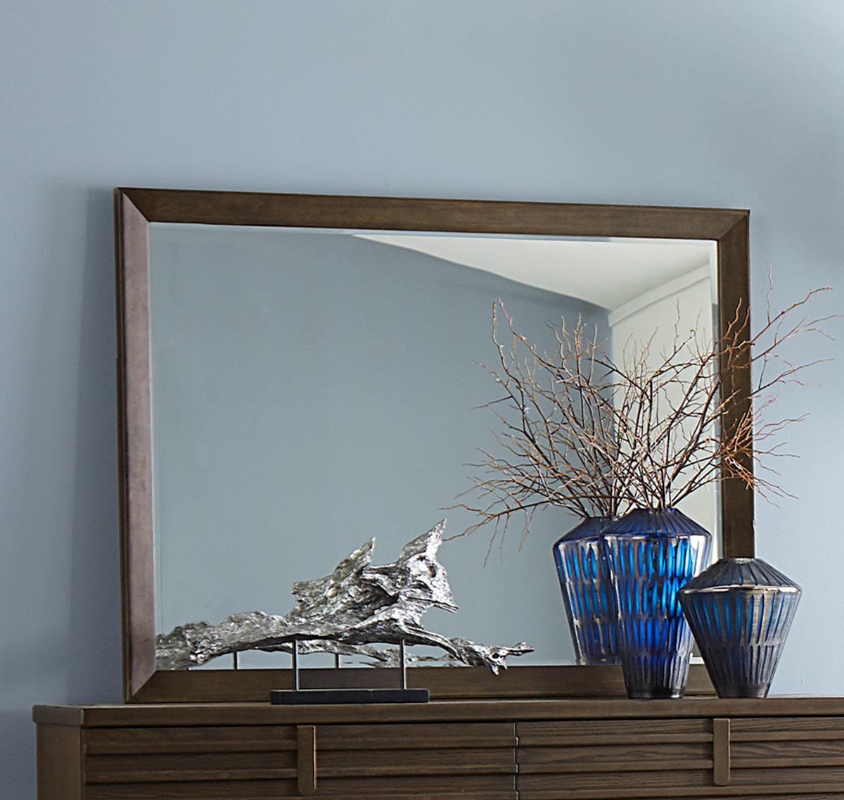 Homelegance Ridgewood Mirror - Rustic Burnished Oak