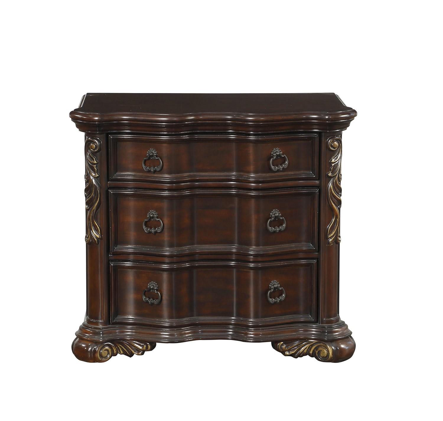 Homelegance Royal Highlands Night Stand - Rich Cherry