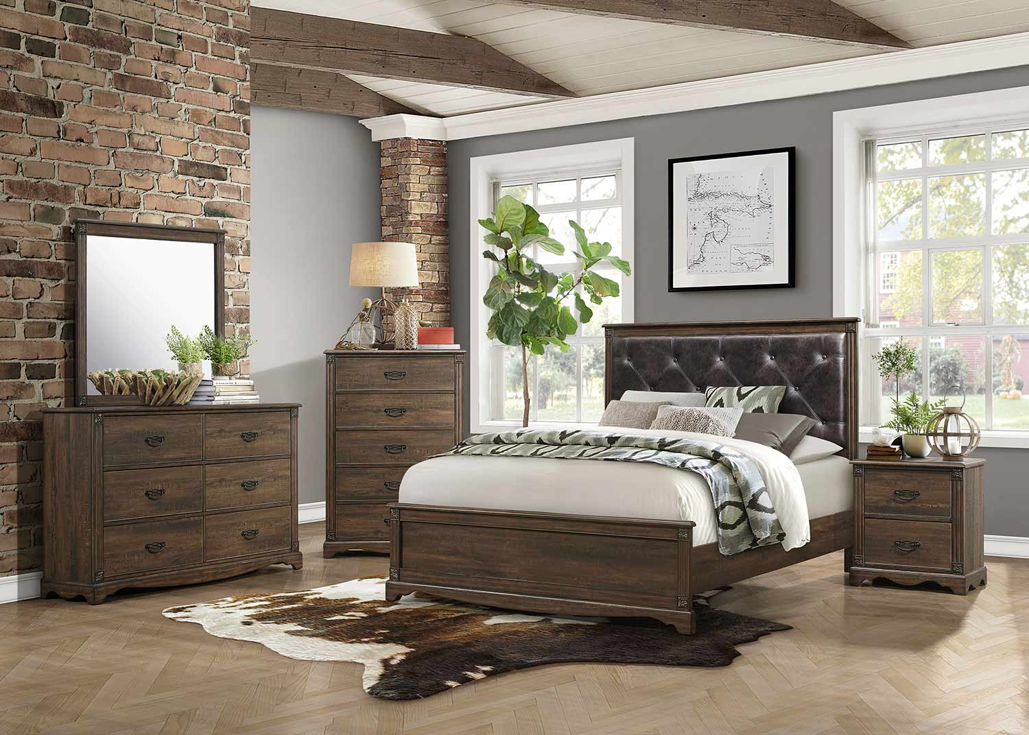 Homelegance Beaver Creek Bedroom Set - Rustic Brown