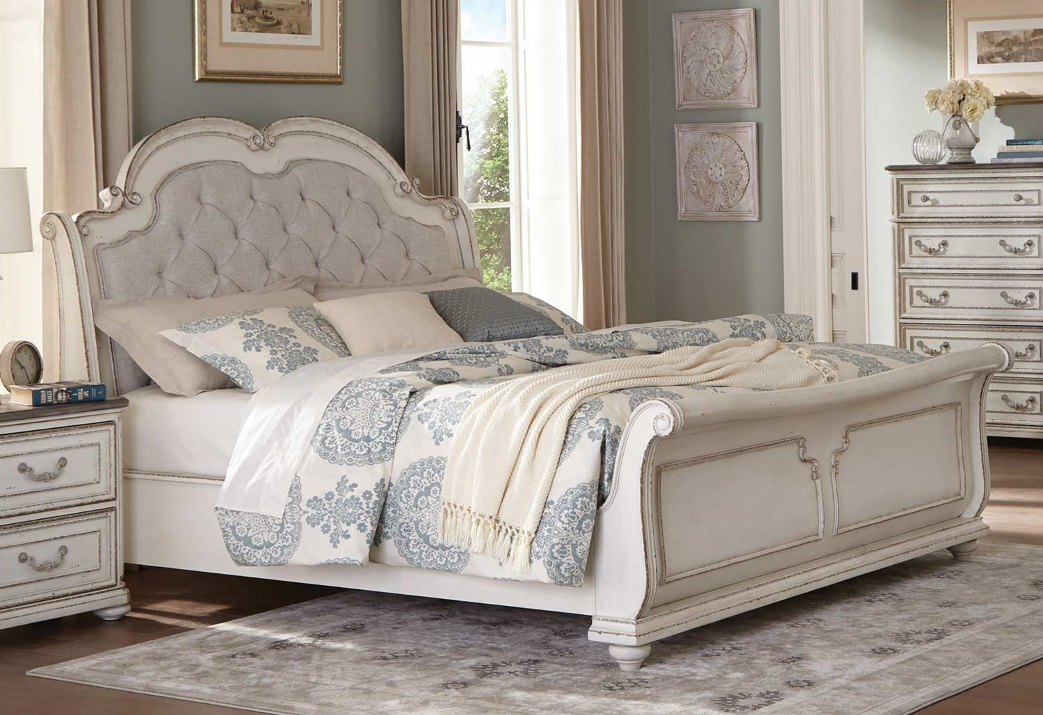 Homelegance Willowick Bed - Antique White