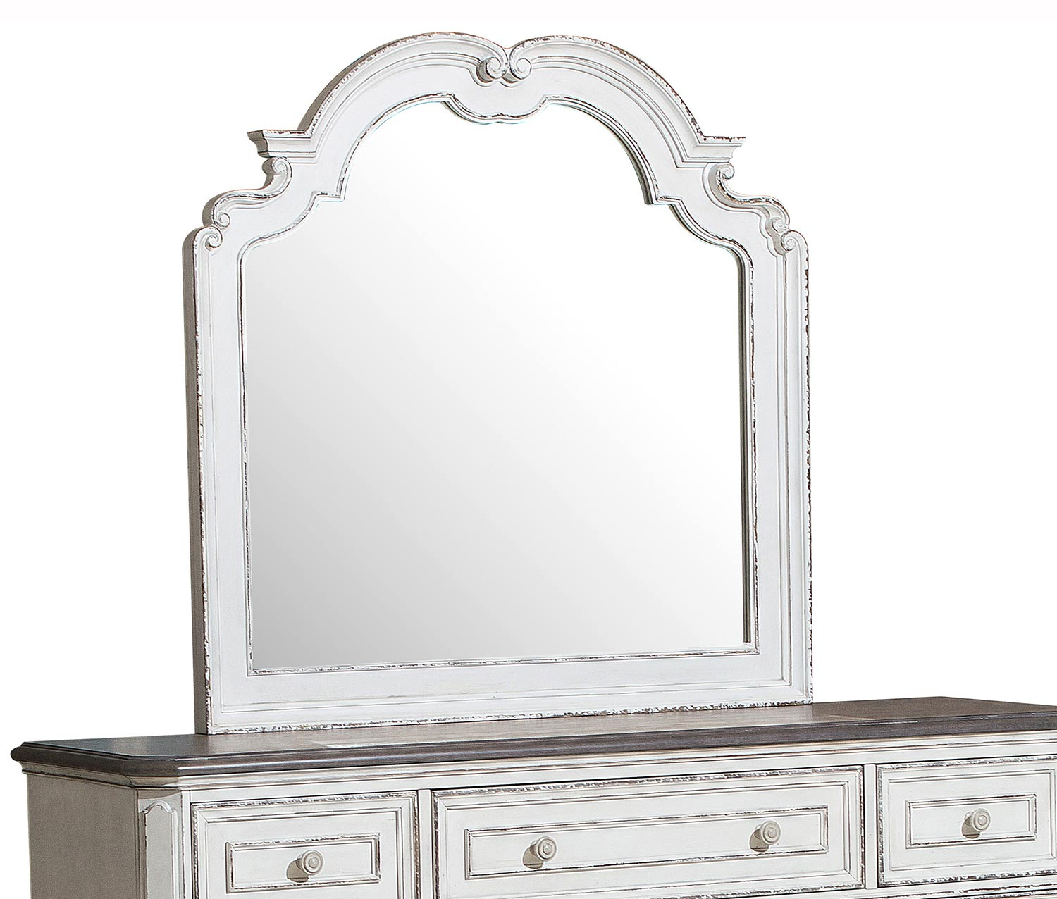 Homelegance Willowick Mirror - Antique White