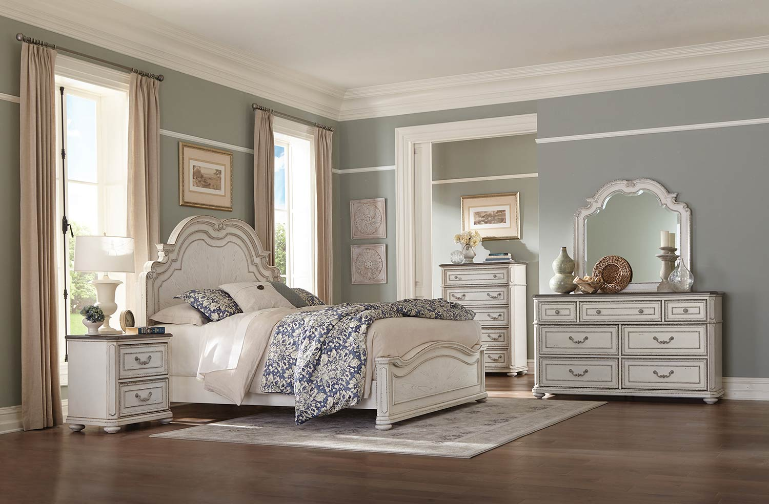Homelegance Willowick Bedroom Set - Antique White