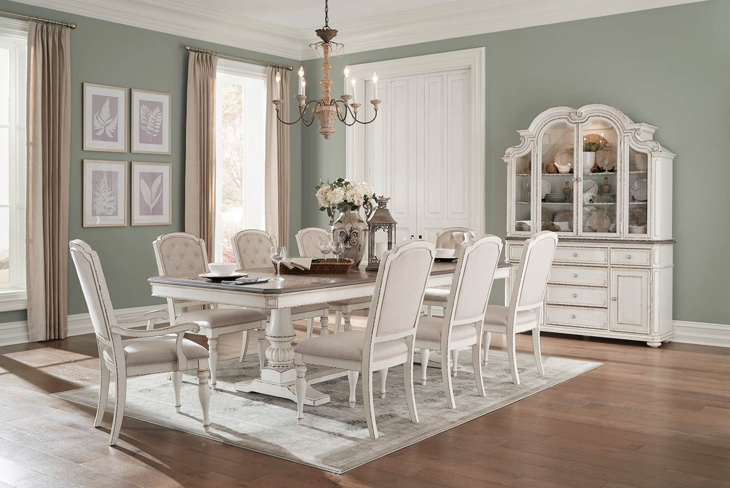 Homelegance Willowick Dining Set - Antique White