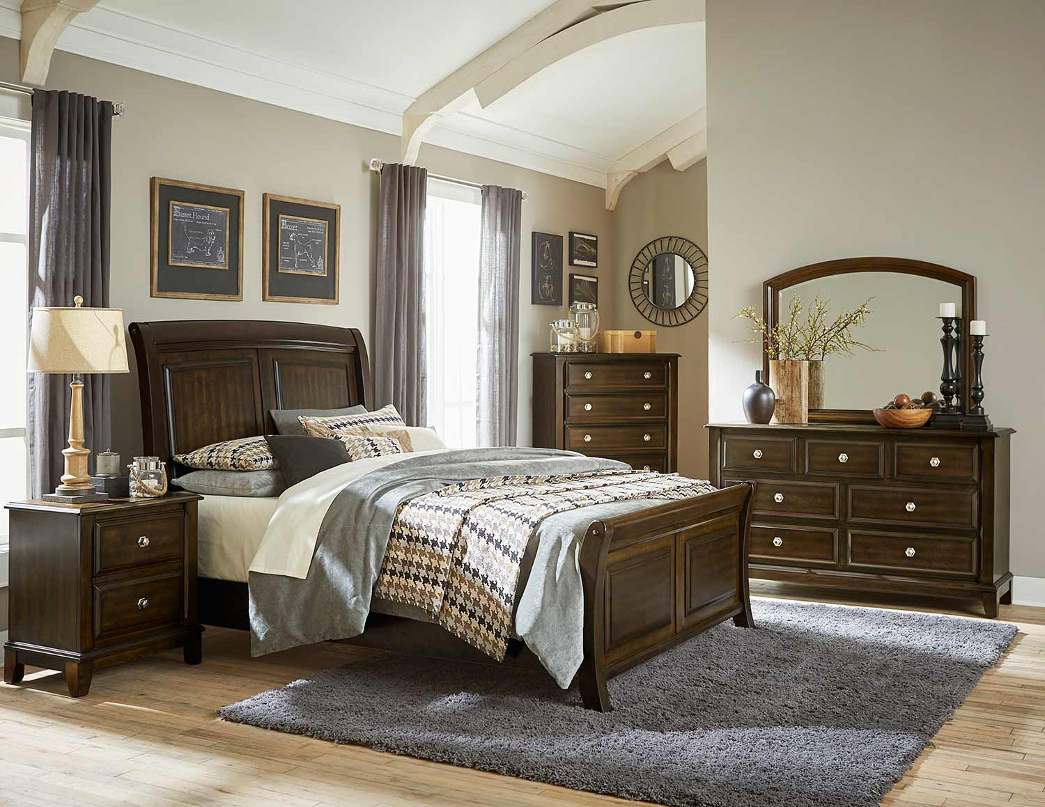 Homelegance Fostoria Bedroom Set - Cherry