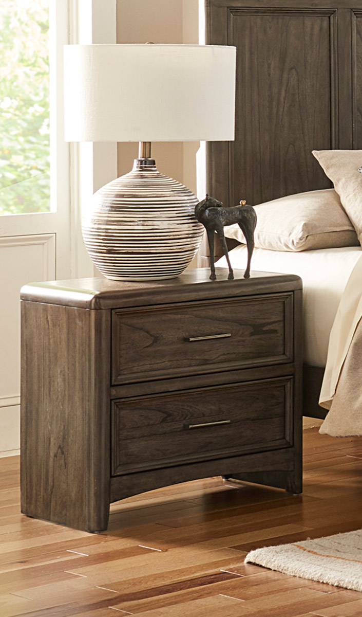 Homelegance Seldovia Night Stand - Brown Gray