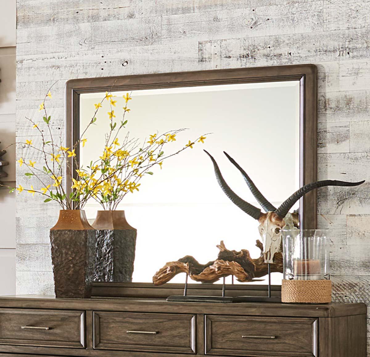 Homelegance Seldovia Mirror - Brown Gray