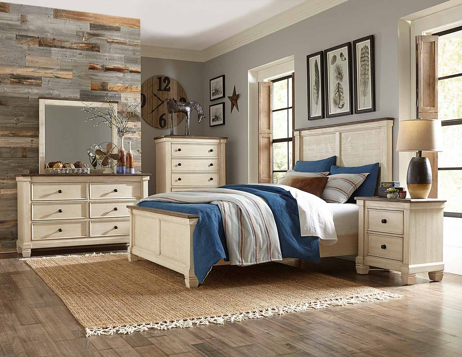 Homelegance Weaver Bedroom Set - Antique White