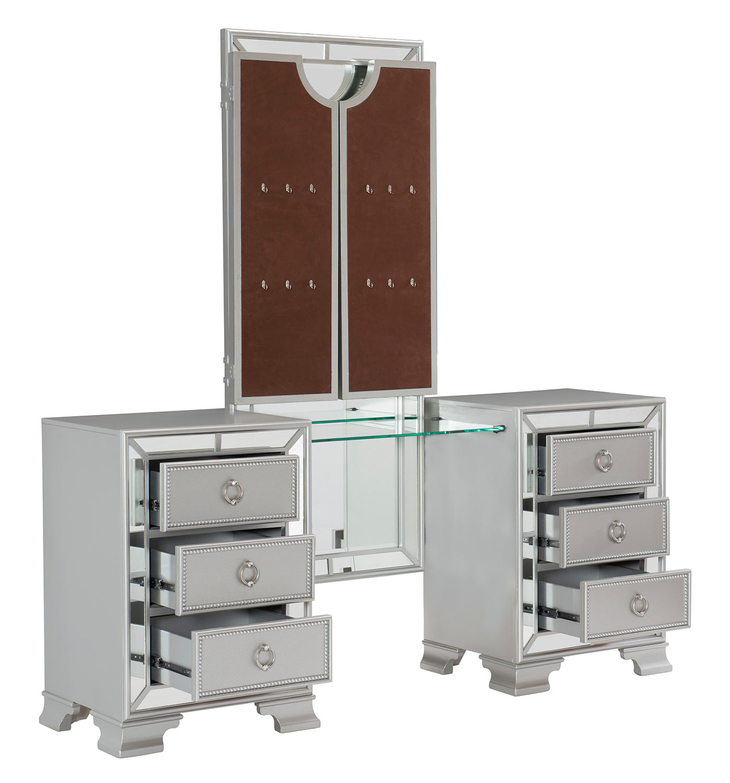 Homelegance Avondale Vanity Dresser with Mirror - Silver
