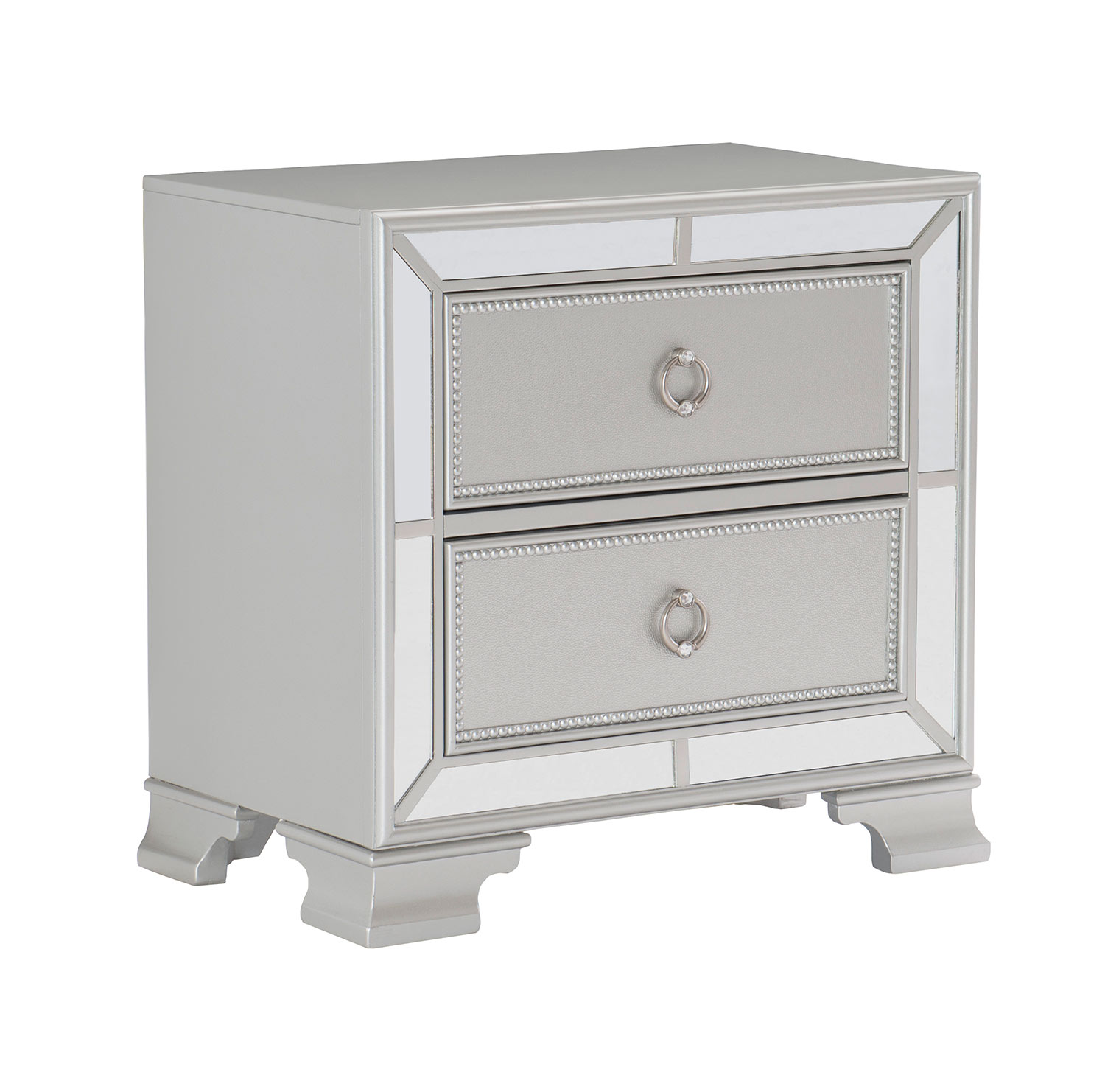 Homelegance Avondale Night Stand - Silver