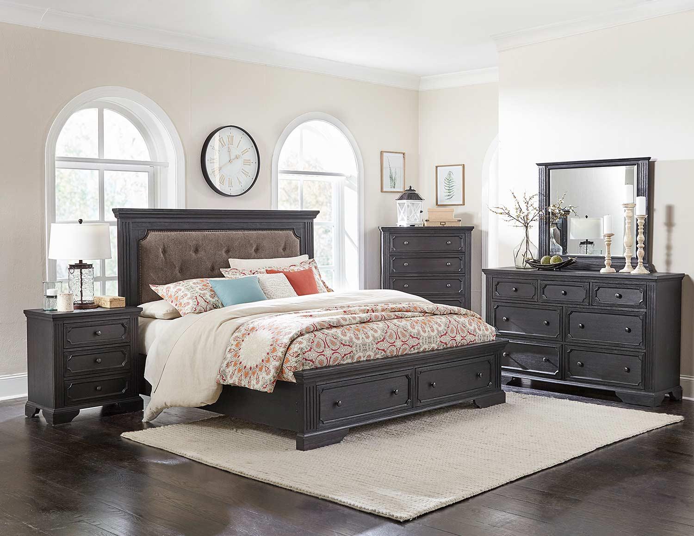 Homelegance Bolingbrook Bedroom Set - Charcoal