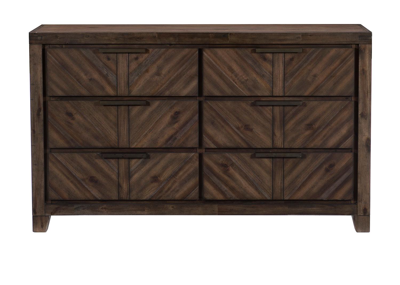 Homelegance Parnell Dresser - Rustic Cherry