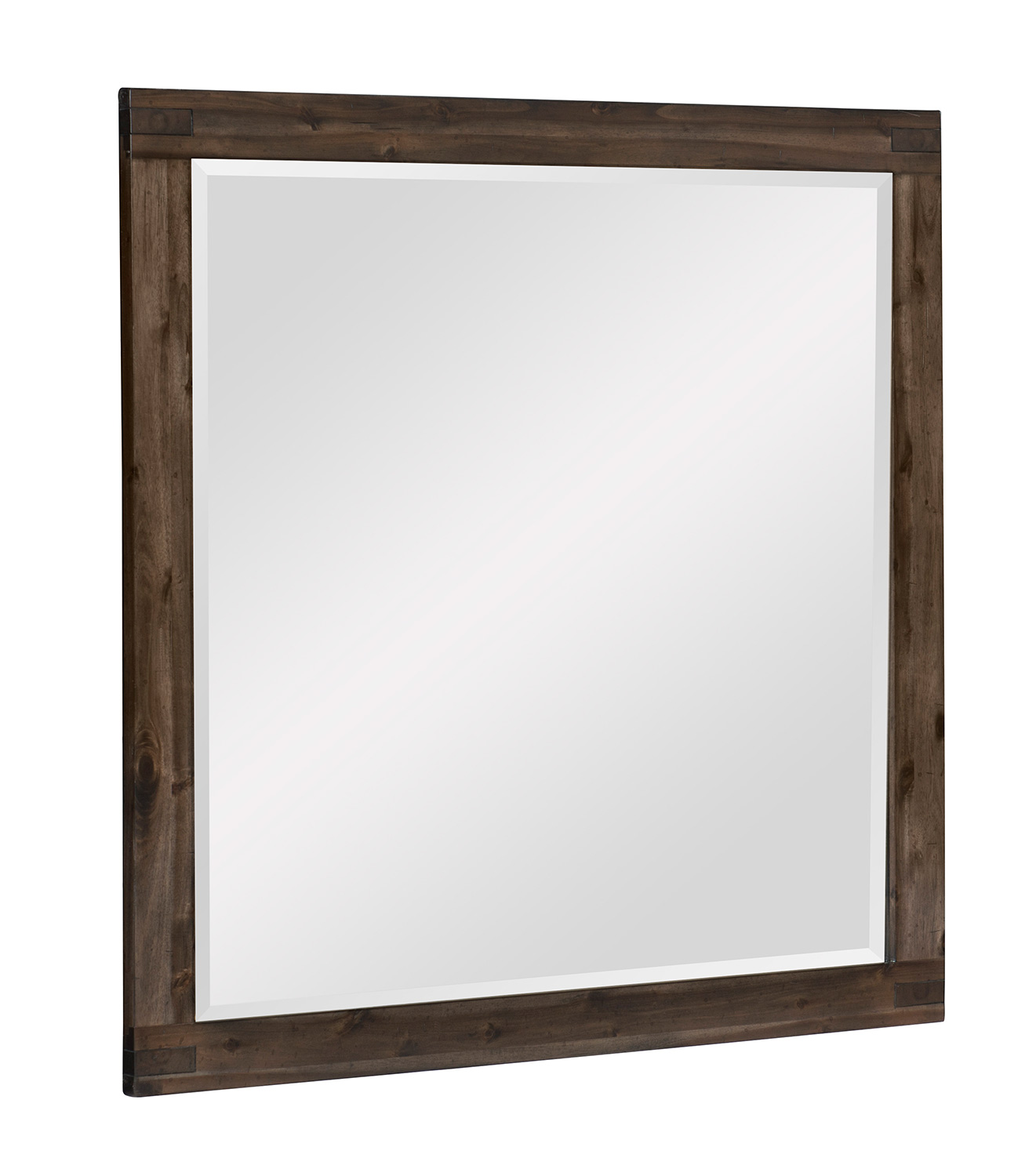 Homelegance Parnell Mirror - Rustic Cherry