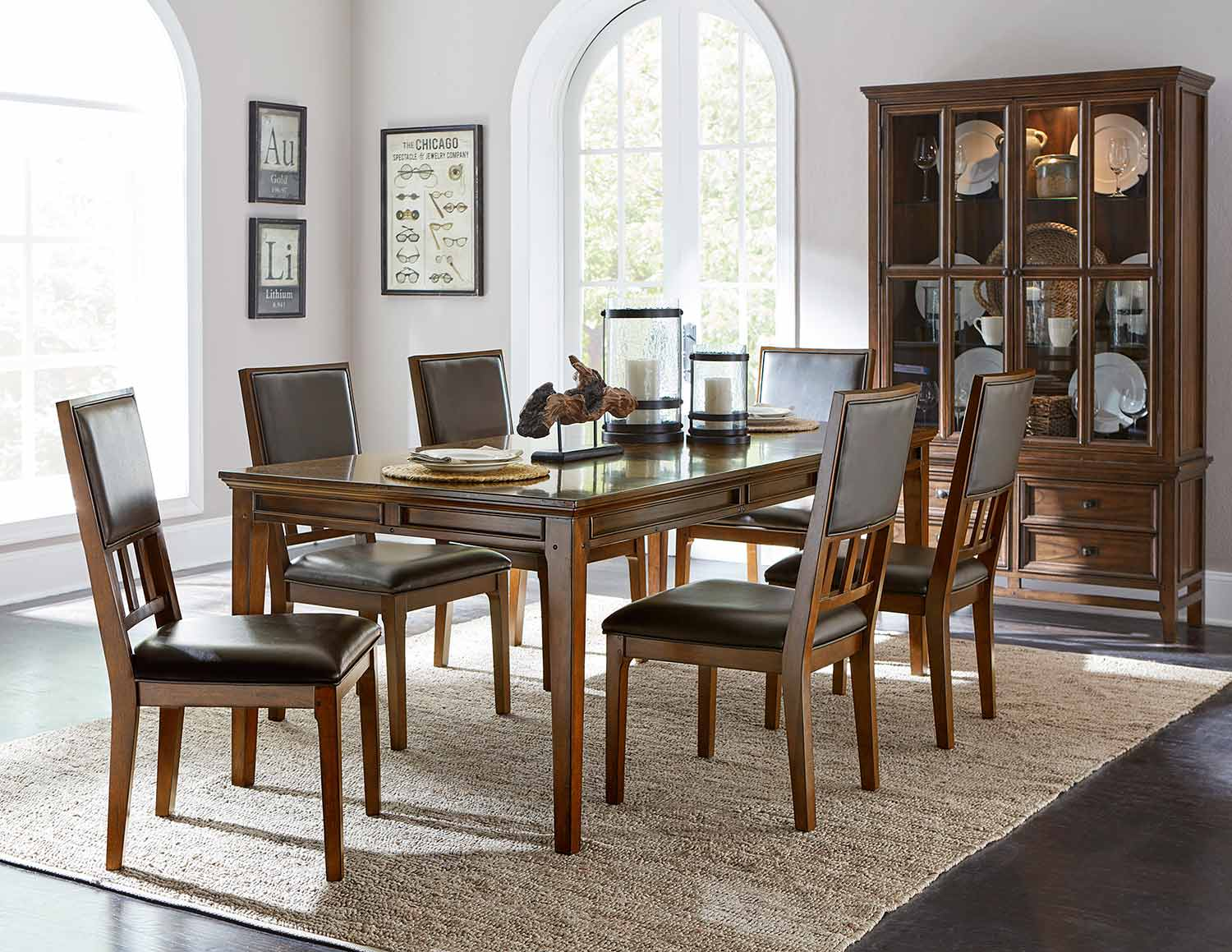 Homelegance Frazier Dining Set - Brown Cherry