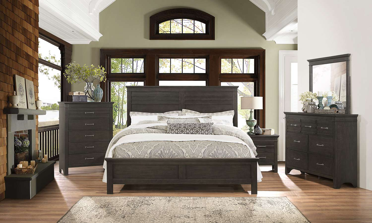 Homelegance Blaire Farm Bedroom Set - Espresso