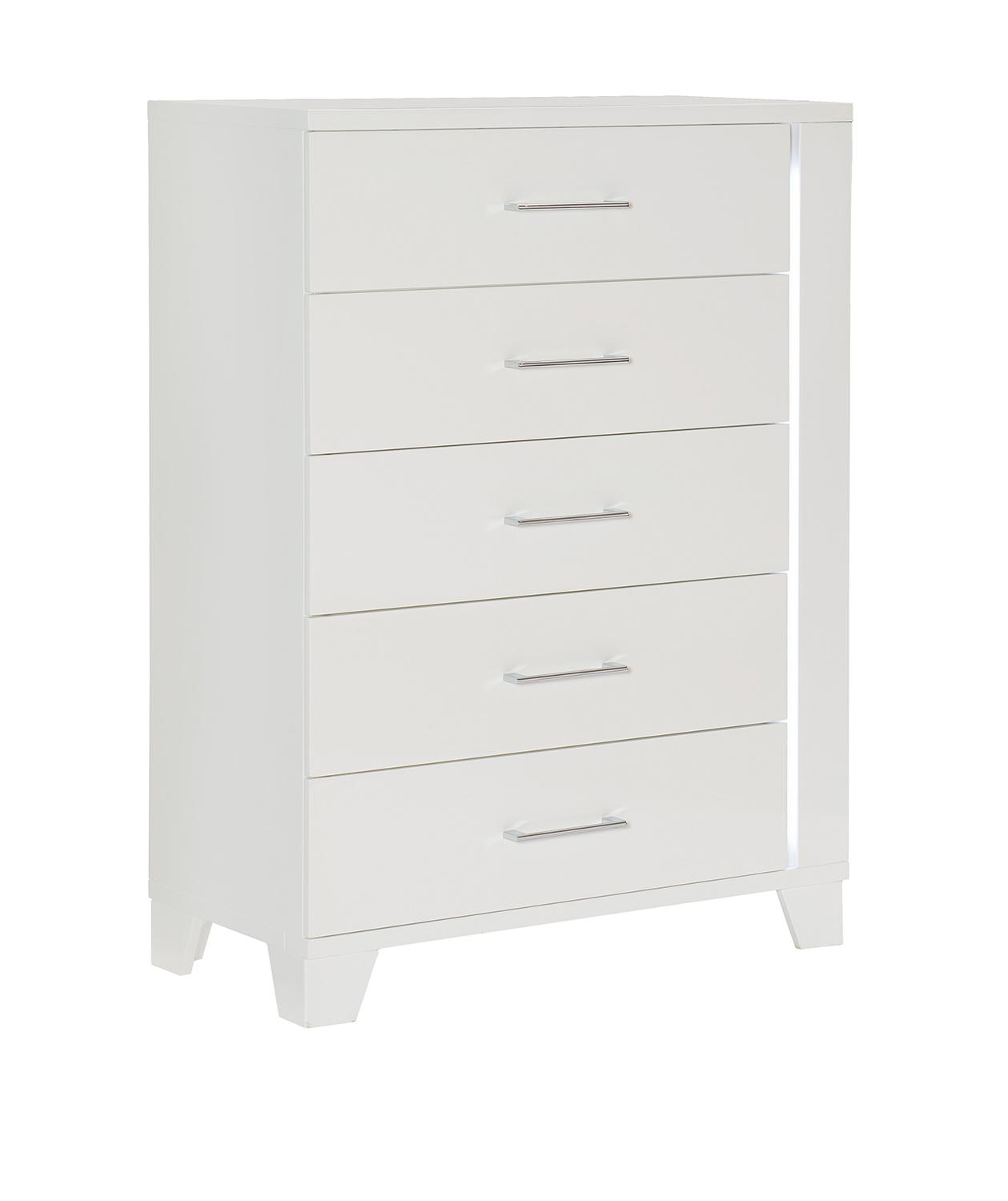 Homelegance Kerren or Keren Chest with LED Lighting - White High Gloss