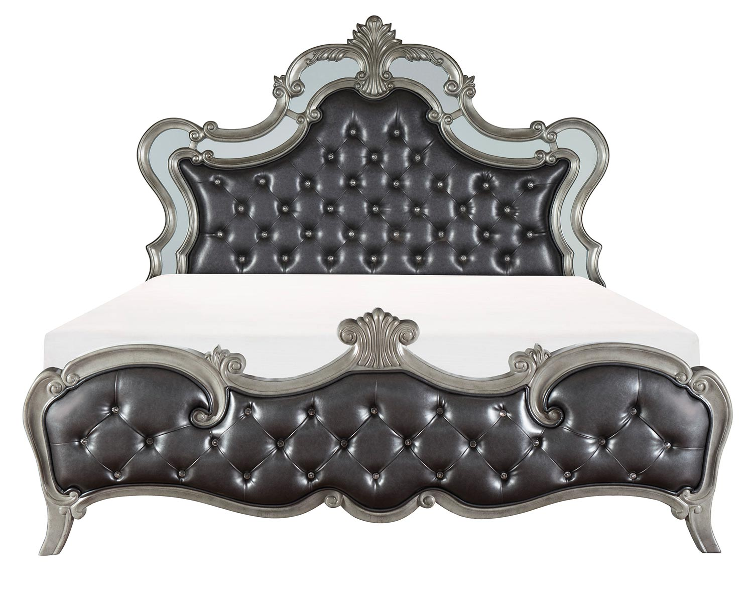 Homelegance Brigette Bed - Silver-Gray