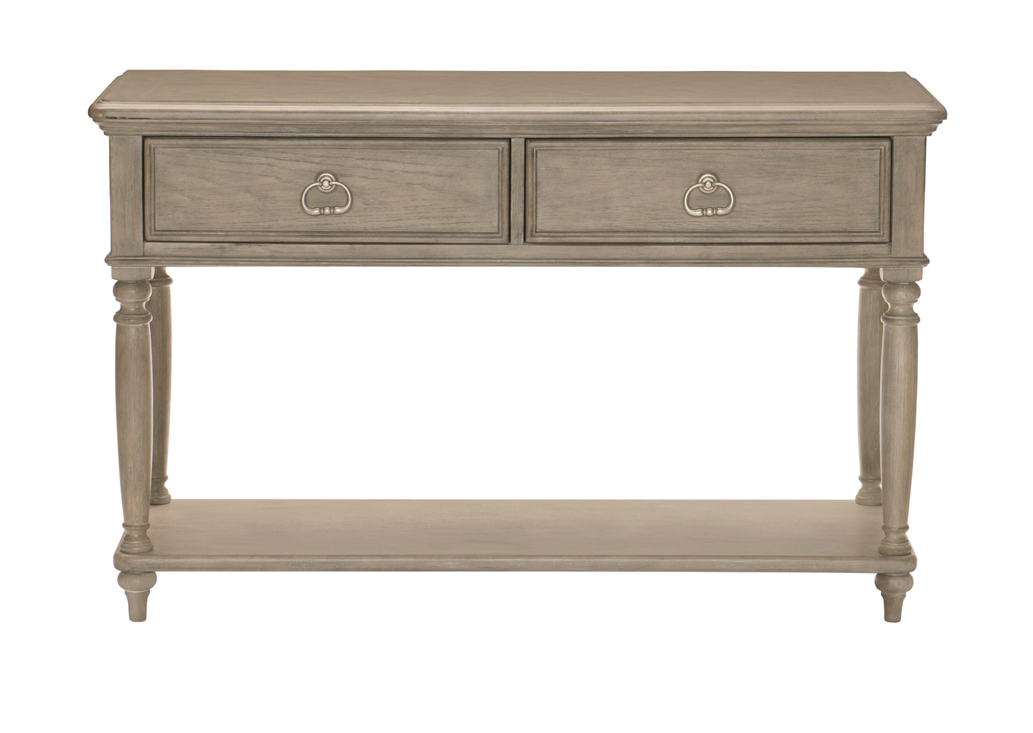 Homelegance Grayling Down Sofa Table with Two Functional Drawers - Driftwood Gray