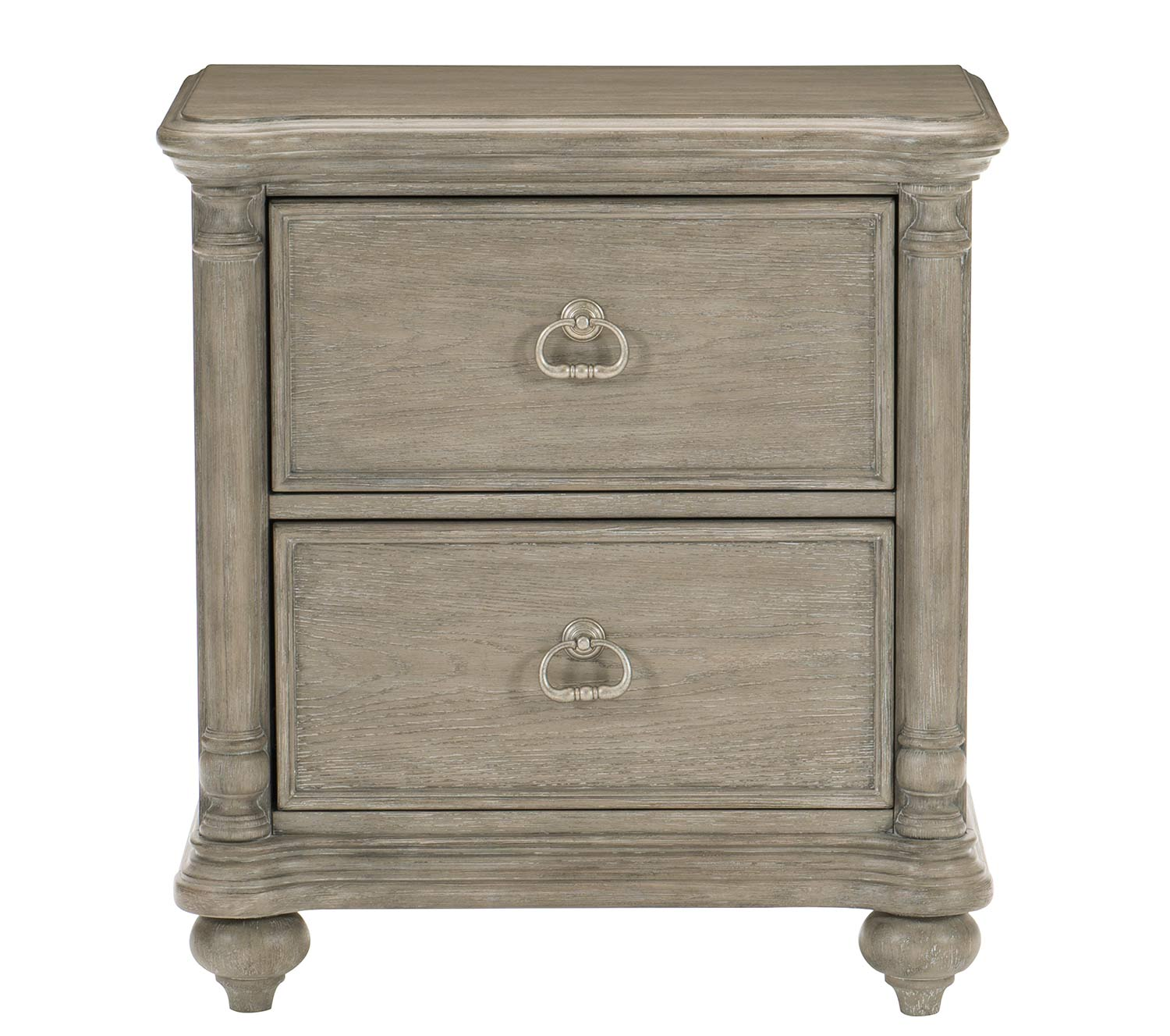 Homelegance Grayling Downs Night Stand - Driftwood Gray