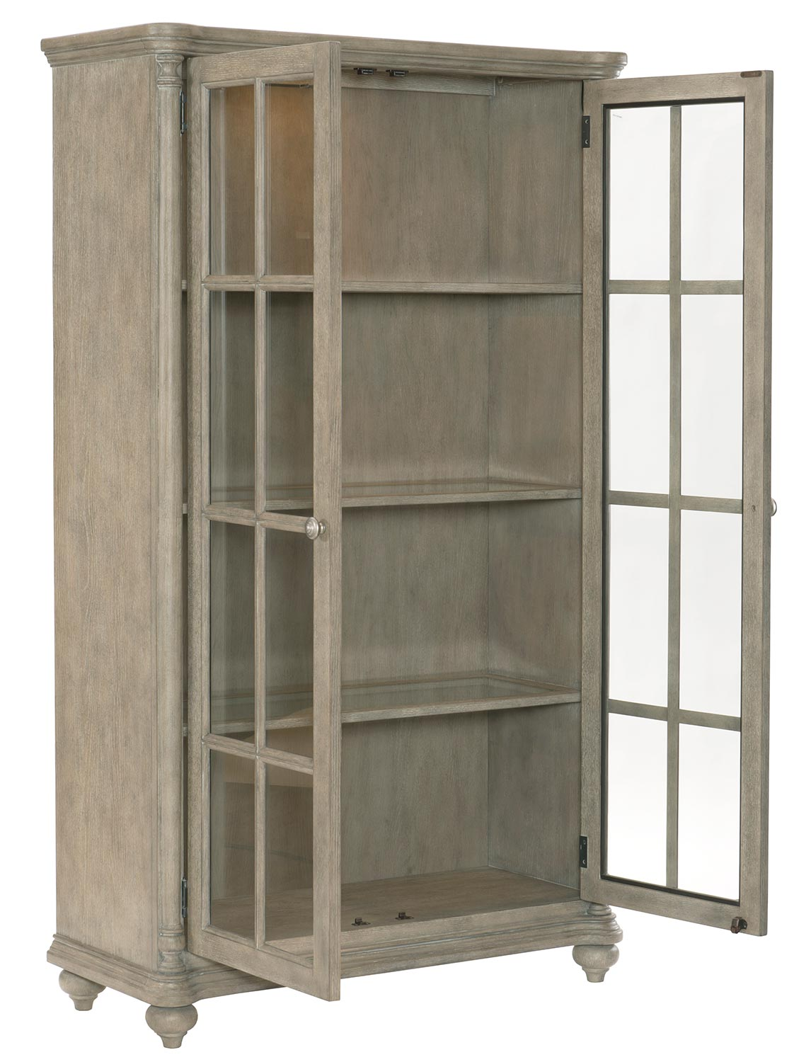 Homelegance Grayling Curio - Driftwood Gray