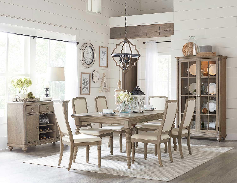 Homelegance Grayling Dining Set - Driftwood Gray