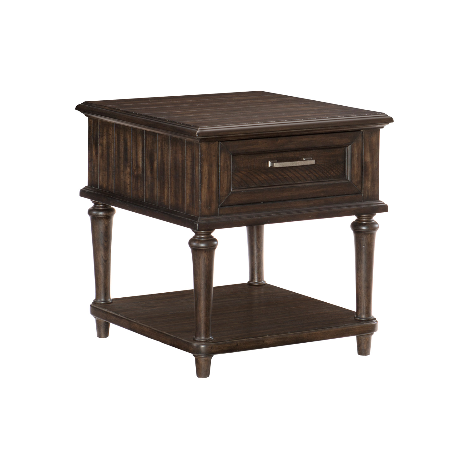 Homelegance Cardano End Table with Functional Drawer - Driftwood Charcoal